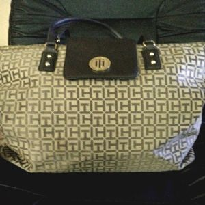 Tommy Hilfiger Brown and Tan Tote